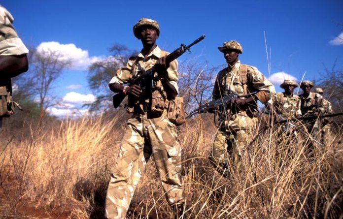Kenya Wildlife Service rangers on patrol at the Meru National Park.