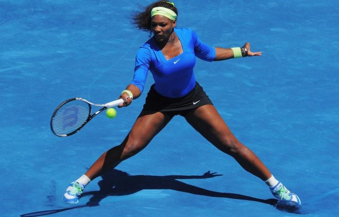 Serena Williams during her match against Victoria Azarenka of Belarus in the women's singles final on Sunday.