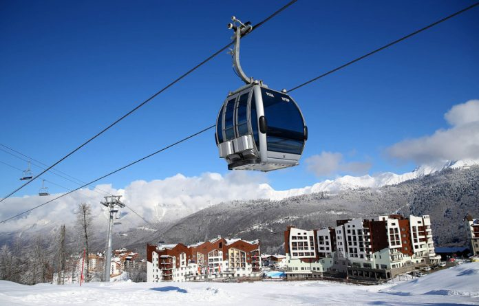 The athletes' village built in Sochi for the 2014 Winter Olympics.