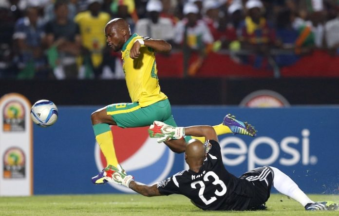 A missed opportunity: Tokelo Rantie took the penalty and paid the price against Algeria.