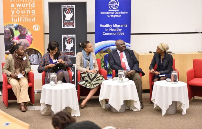 Panelists at the M&G Critical Thinking Forum included Plaxcedes Mapako