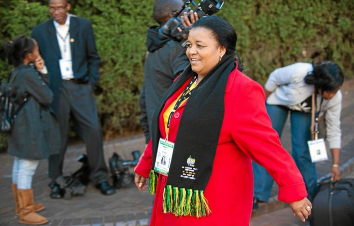Minister of environmental affairs Edna Molewa.