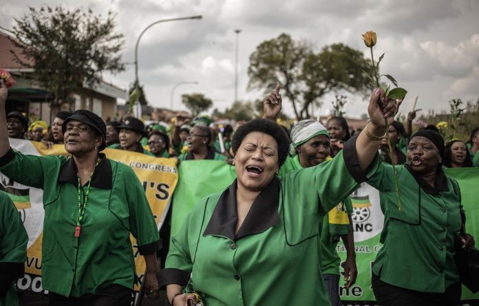 Fear of the black woman: Members of the ANC Women's League marched in Soweto last week to commemorate the life of Winnie Madikizela-Mandela. Photo: Gianluigi Guercia/AFP