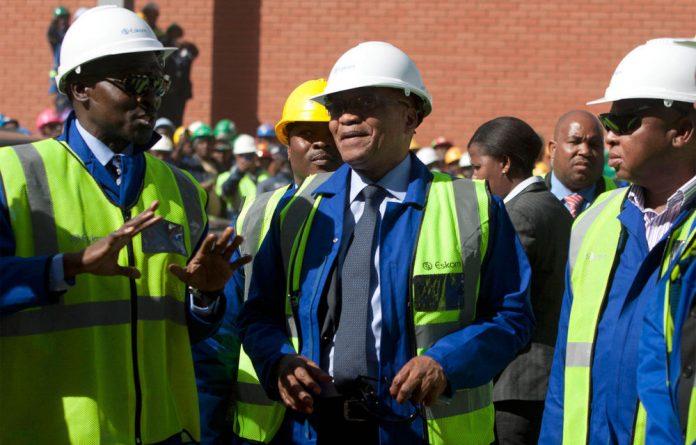 President Zuma at the Medupi power plant.