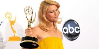 """Homeland toppled """"Mad Men"""" to win the top drama prize as the Emmy Awards favoured politics and 21st century tensions over shows set in bygone eras."""