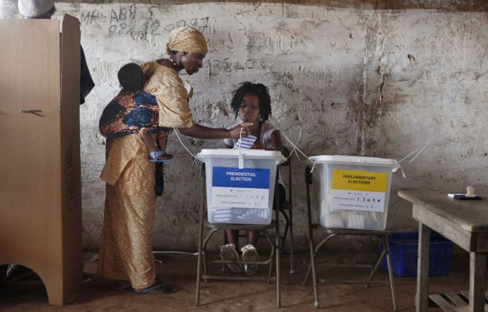 Sierra Leoneans voted on Saturday in elections they hope can propel the small West African state into an era of prosperity based on mining and oil after a decade of difficult recovery from civil war.