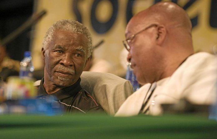 Thabo Mbeki and President Jacob Zuma.