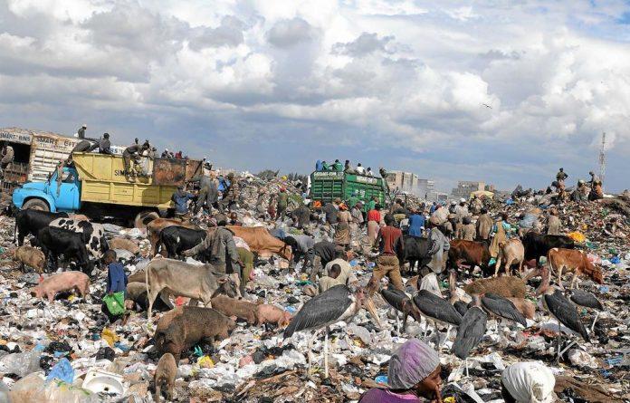 The Dandora dumping site in Nairobi.