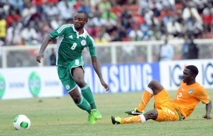 Nigerian midfielder Sunday Mba