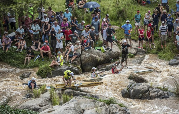 Annual ritual: The Dusi can present racers with a full-flowing river