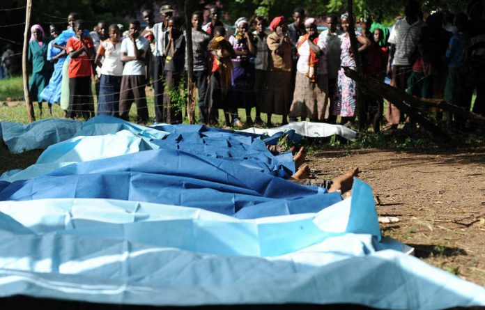 At least 50 people were killed in Mpeketoni last week while viewing a World Cup match.