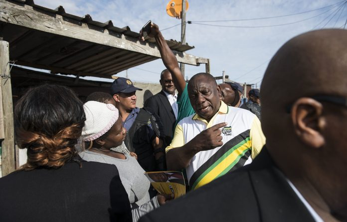 Electioneering: President Cyril Ramaphosa visits Khayelitsha as part of the ANC's build-up to the May elections.