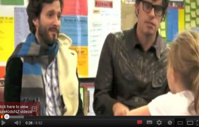 Actors Brett McKenzie and Jemaine Clement.