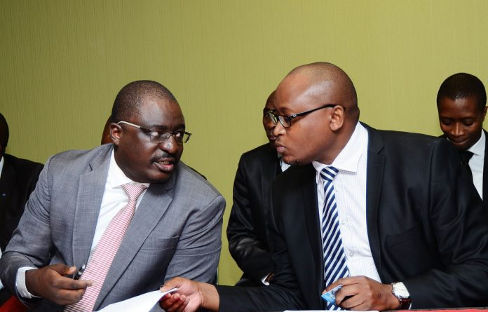 Non-fiction: Tshifhiwa Matodzi and Andile Ramavhunga are lead characters in Terry Motau's report into the bank's actions that have devastated its victims. Photo: Mduduzi Ndzingi/ Gallo Images/Sowetan