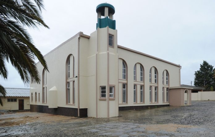 The mosque where two people were stabbed to death on June 14 2018 in Malmesbury.