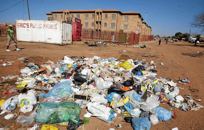 Contested space: Soweto's Community Residential Units in Mzimhlophe are yet to be occupied.