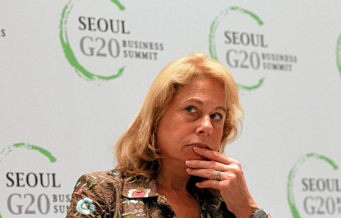 Anglo American's former CEO Cynthia Carroll.