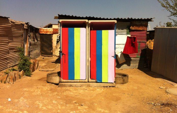 A public toilet in Diepsloot.