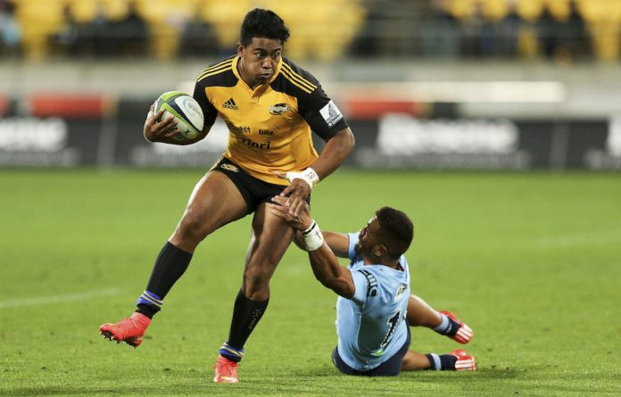Ball-in-hand: Hurricanes wing Julian Savea has impressed with his surging runs.