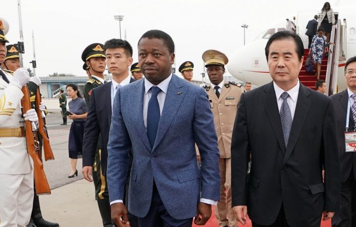 Under fire: Togolese President Faure Gnassingbé