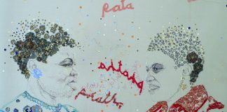 Work by Amita Makan from her exhibition Nomalungelo: Threads to Freedom.