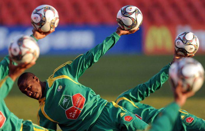 A Bafana Bafana training session.