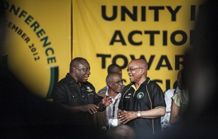 Deputy President Cyril Ramaphosa and President Jacob Zuma.