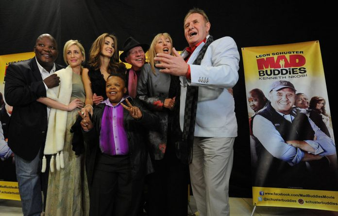 Leon Schuster and the cast of his new film