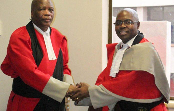 Chief Justice Michael Ramodibedi Judge Mpendulo Simelane.