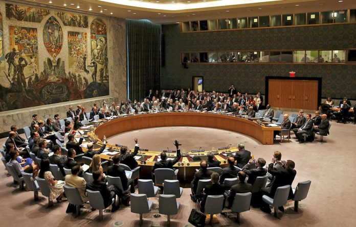 The United Nations assembly.