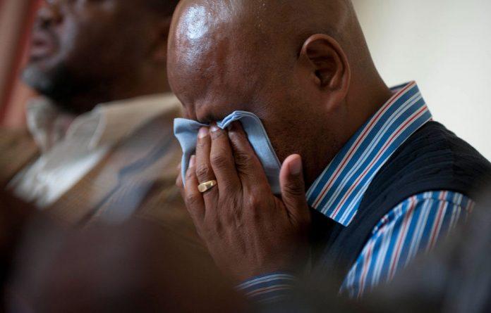 Amcu president Joseph Mathunjwa breaks down.