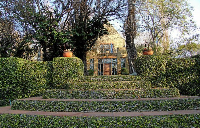 Grand entrance: De Hoek Country House is set in beautiful gardens