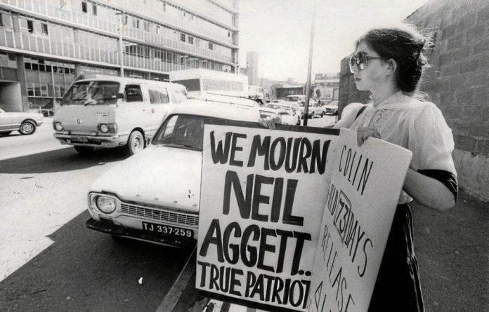 Jane Starfield in January 1982 mourns the death of Neil Aggett