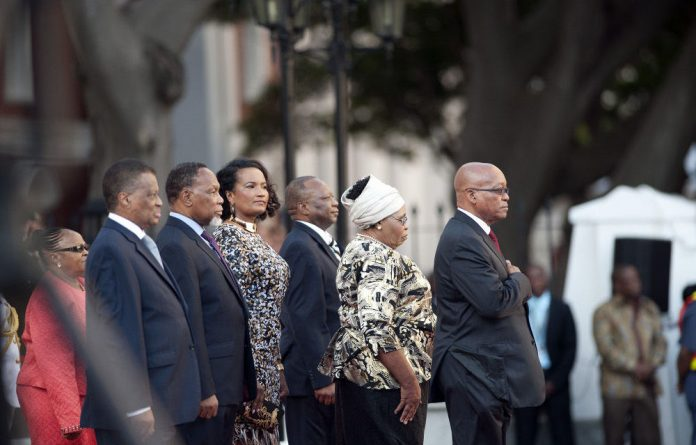 From left to right: Speaker of the National Assembly Max Sisulu