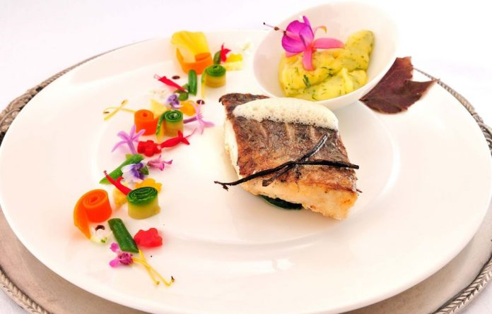 An innovative dish from Restaurant Mosaic at the Orient