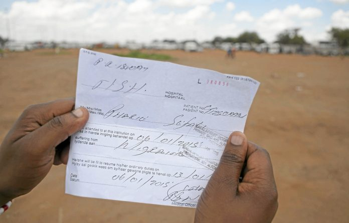 AmaBhungane's fake letter: the writing is over the stamp