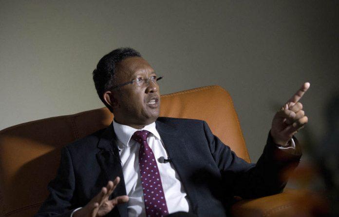 Madagascar's new president Hery Rajaonarimampianina.