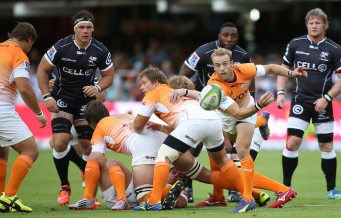 Danger man: Speedy Cheetahs' scrumhalf Sarel Pretorius.
