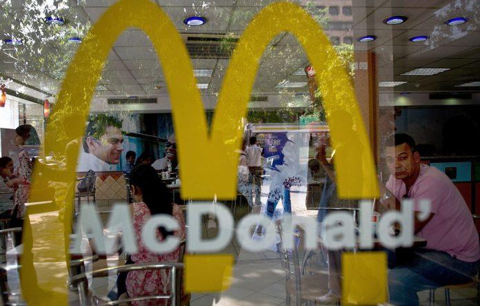 US fast food giant McDonald's