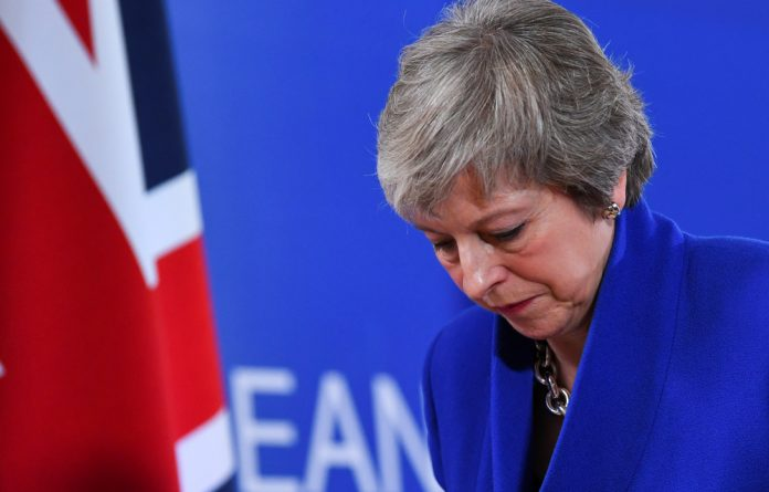 Bloodied but not yet beaten: British Prime Minister Theresa May.
