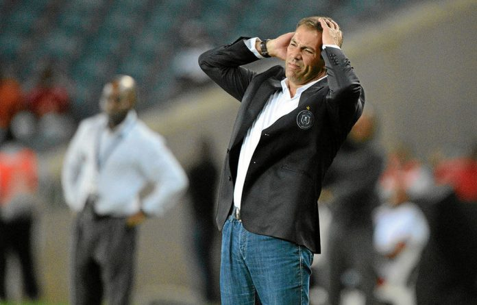 Pirates coach Roger de Sá leads his team into the first leg of the African Champions League final against Al Ahly this weekend.