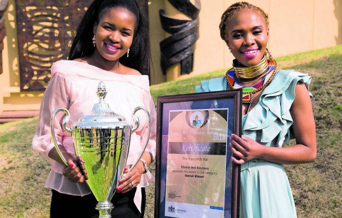 Portia Mngomezulu won the Female Entrepreneur Award for her skincare products made from marulas.