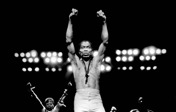 Fela Kuti's larger-than-life character made him the centre of attention