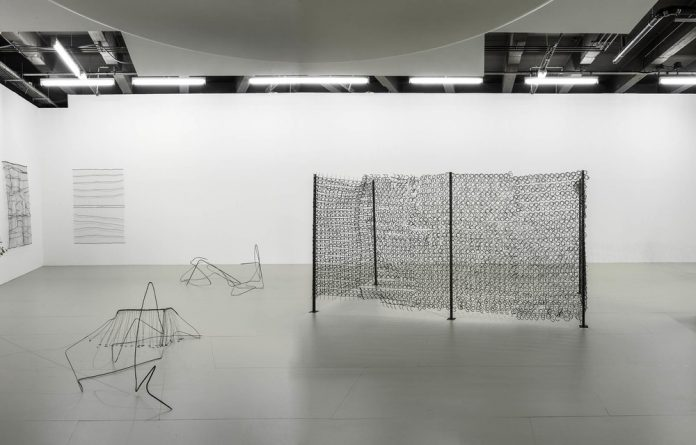 Symbolism in abstract forms: Installation view of Bronwyn Katz's 'A Silent Line