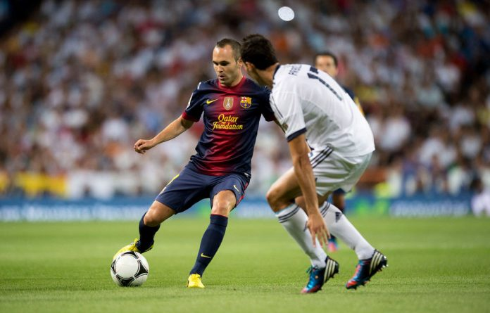 Andrés Iniesta has won the Uefa player of the year award.