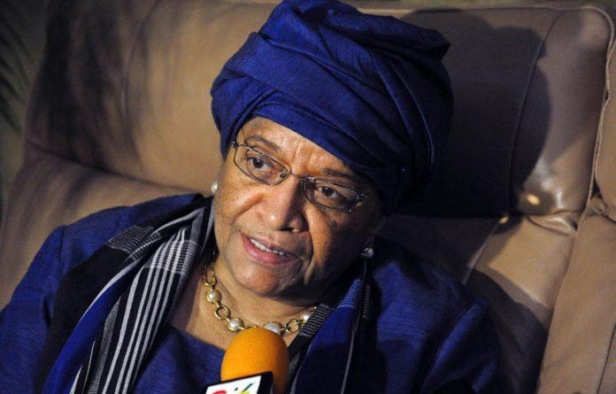 Liberian President Ellen Johnson-Sirleaf.