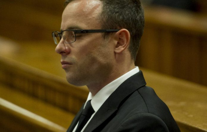 Oscar Pistorius during his initial initial murder trial.