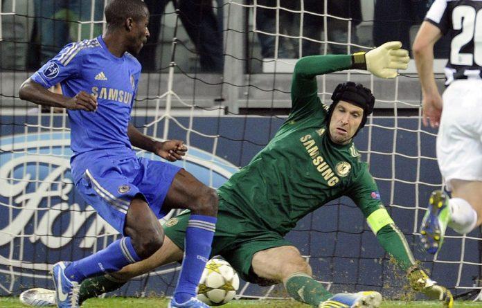 Chelsea's Petr Cech fails to save a goal by Arturo Vidal of Juventus FC