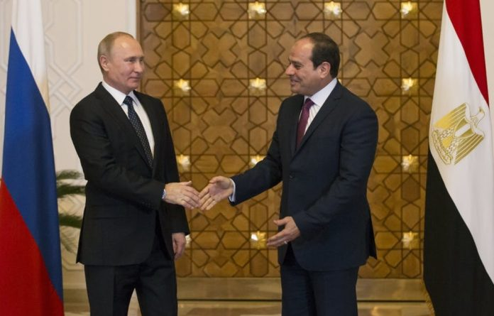 Egyptian President Abdel Fattah al-Sisi and Russian President Vladimir Putin. Egypt seems likely to be the next African country with nuclear energy.