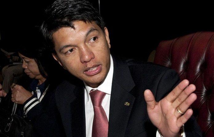 A file photograph of Andry Rajoelina.